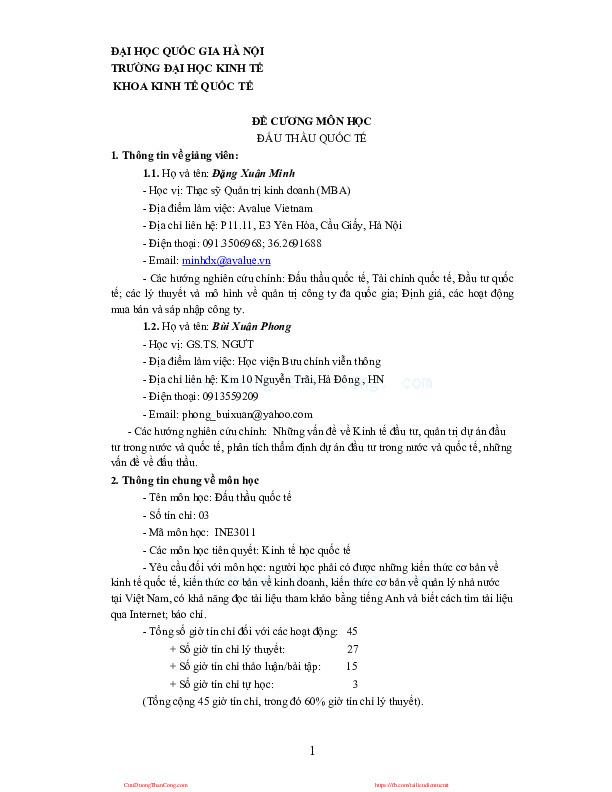 dau thau quoc te (3tc).pdf-Thư viện tài liệu, giáo trình, bài giảng, bài tập lớn, đề thi online  môn học Đấu Thầu Quốc Tế  tác giả Nguyễn Quốc Việt  ĐH Kinh Tế - ĐHQG Hà Nội-0