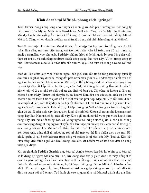sv-case 3c-v-be-mexico.pdf-Thư viện tài liệu, giáo trình, bài giảng, bài tập lớn, đề thi online  môn học Môi Trường Kinh Danh  tác giả Dương Thị Hoài Nhung  Đại Học Ngoại Thương-0