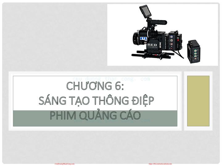 c6-noidung_sangtaoo.pdf-Thư viện tài liệu, giáo trình, bài giảng, bài tập lớn, đề thi online  môn học Quay Phim Quảng Cáo  Đại Học Kinh Tế Quốc Dân